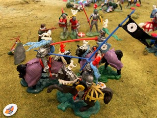 Knights fighting during the battle of Bosworth