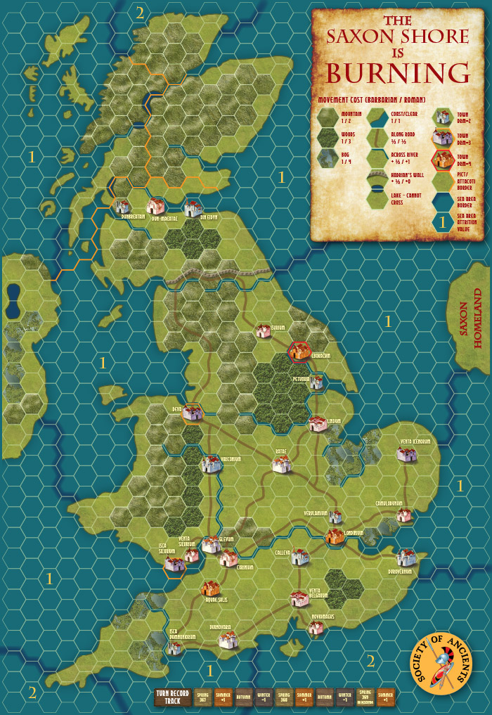 The full map for Saxon Shore